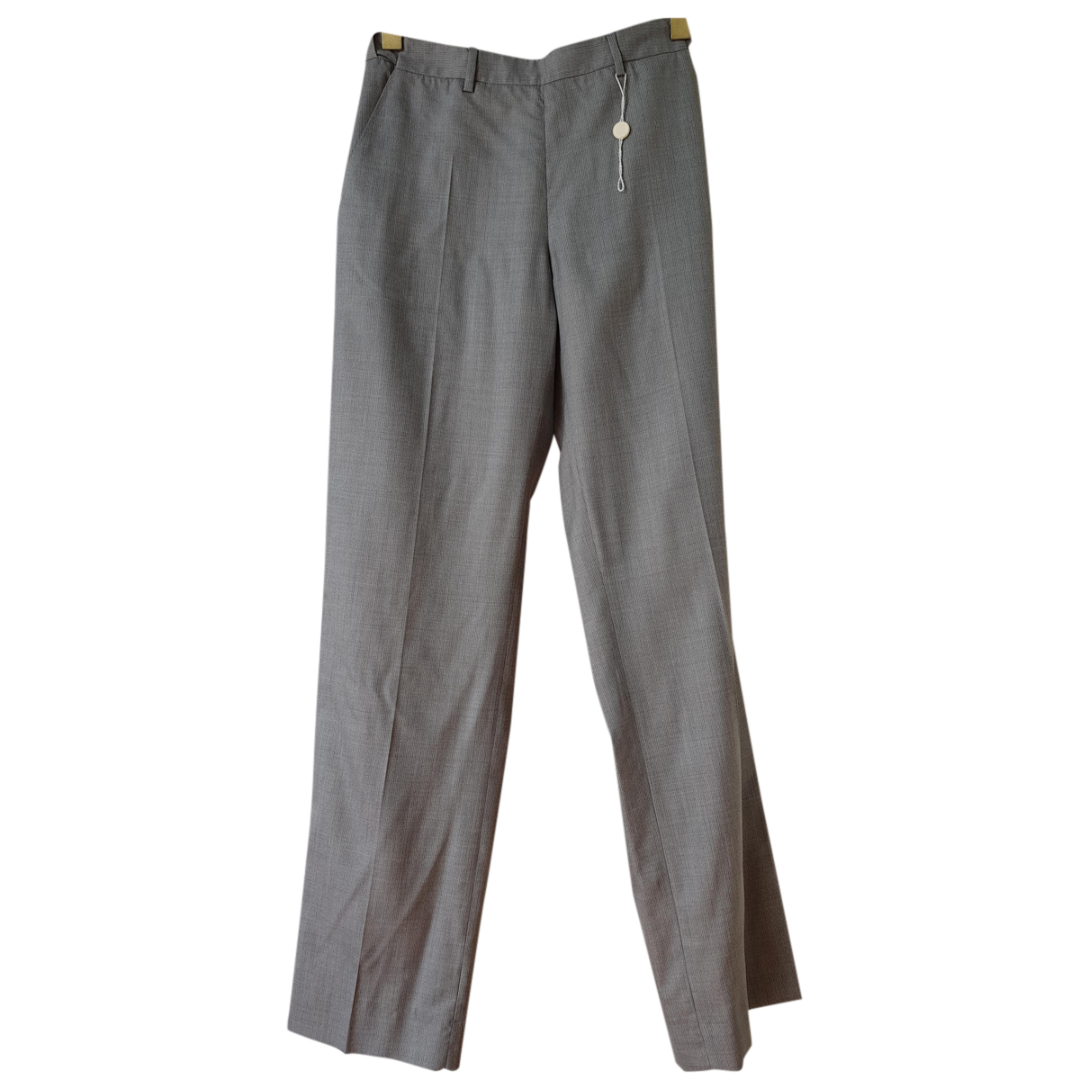 Maison Martin Margiela N Grey Wool Trousers for Women 44 IT