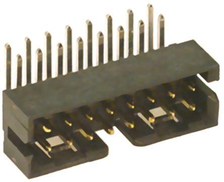 Molex , Milli-Grid, 87833, 16 Way, 2 Row, Right Angle PCB Header (5)