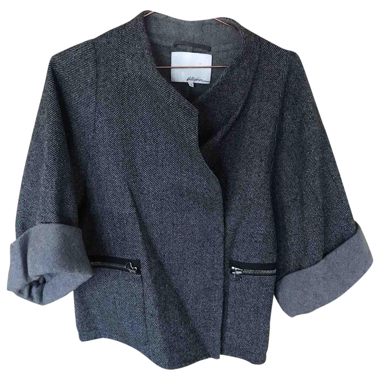 3.1 Phillip Lim \N Jacke in  Grau Wolle