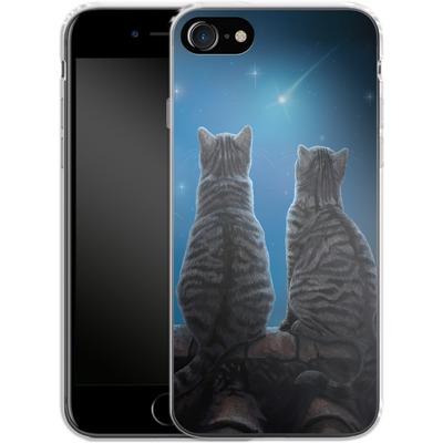 Apple iPhone 7 Silikon Handyhuelle - Wish Upon a Star von Lisa Parker