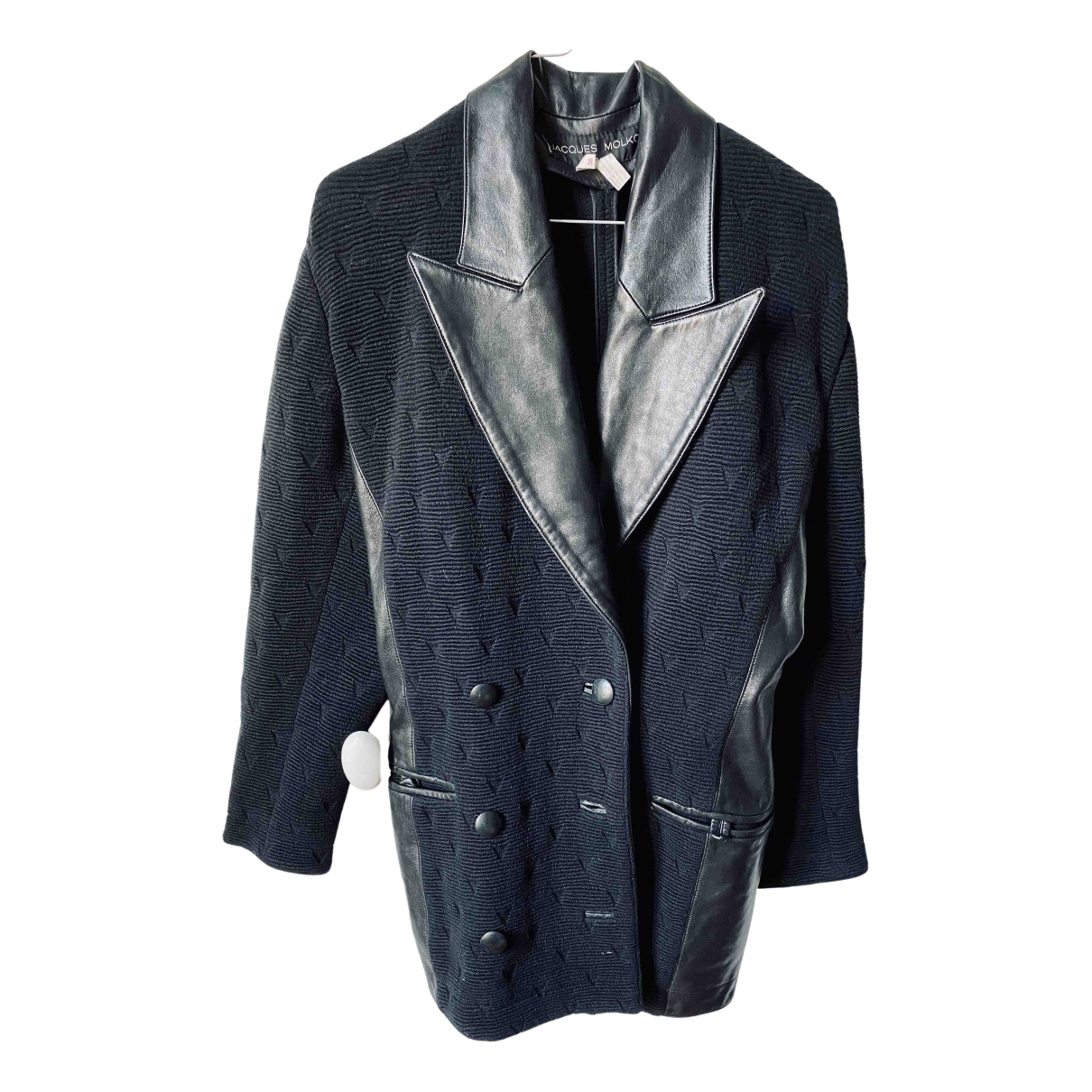 Non Signé / Unsigned N Black Wool jacket for Women 38 FR