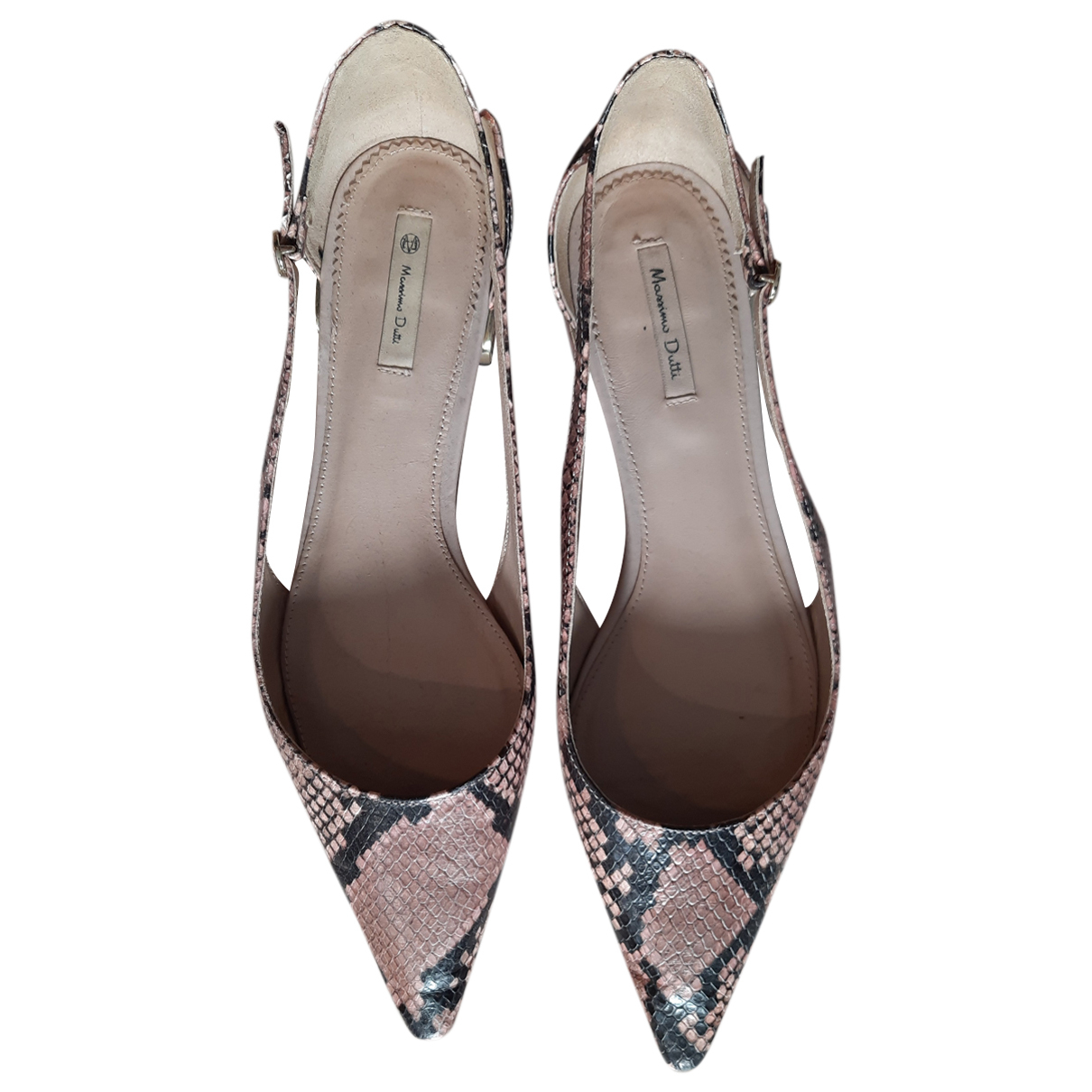 Massimo Dutti N Pink Patent leather Flats for Women 41 EU