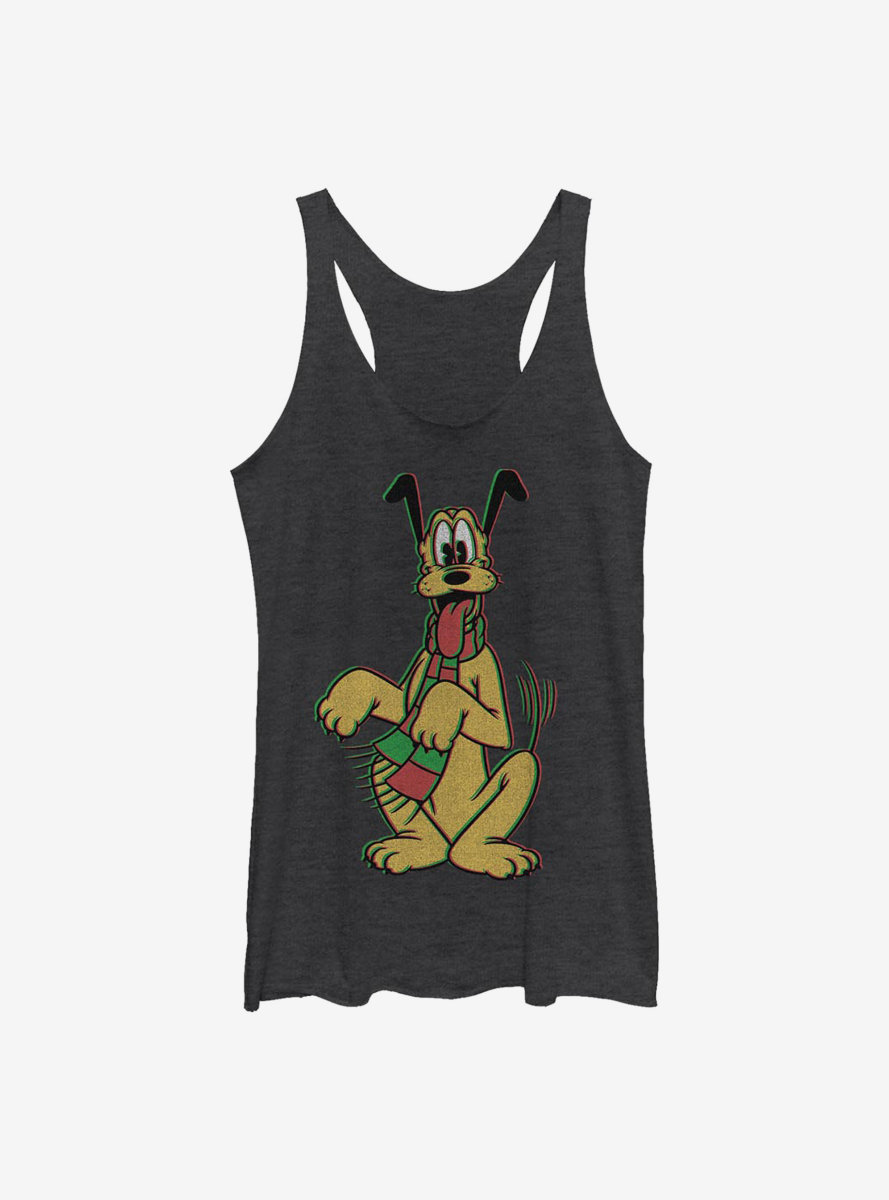 Disney Pluto Holiday Colors Womens Tank Top