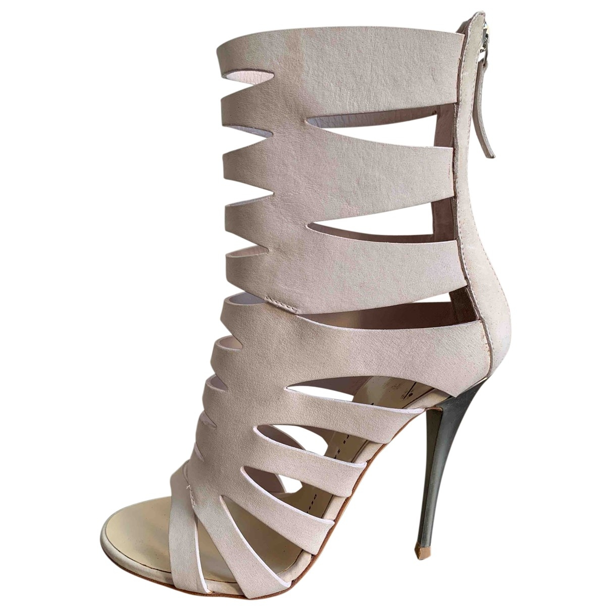 Giuseppe Zanotti \N Pink Suede Sandals for Women 37 EU