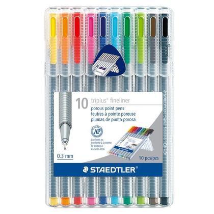Staedtler@ Triplus@ Fineliner Marker 0.3 mm point - 10 Colours 705202