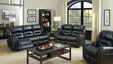 Frederick Collection CM6130-SLR 3-Piece Living Room Set with Motion Sofa  Motion Loveseat and Recliner in