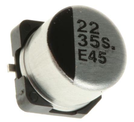 Panasonic 22μF Electrolytic Capacitor 35V dc, Surface Mount - EEE1VA220SP (5)