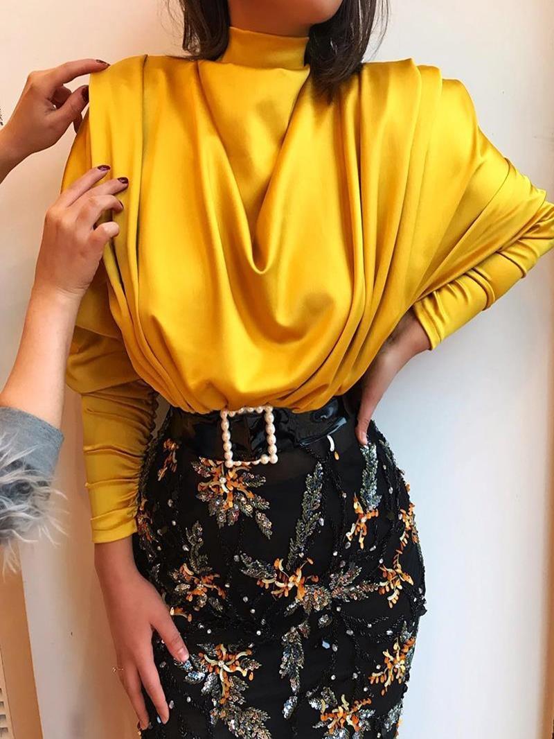 Ericdress Long Sleeve Standard Plain Ladylike Loose T-Shirt
