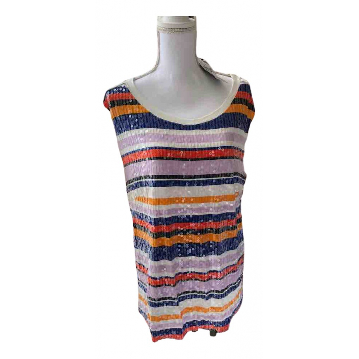 Non Signé / Unsigned Oversize Multicolour  top for Women 16 UK