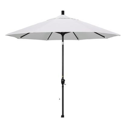 GSPT908302-SA04 9' Pacific Trail Series Patio Umbrella With Stone Black Aluminum Pole Aluminum Ribs Push Button Tilt Crank Lift With Pacifica Natural