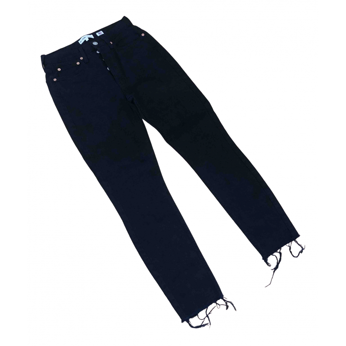 Re/done \N Black Cotton - elasthane Jeans for Women 25 US