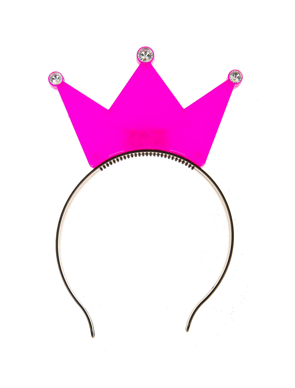 Kostuemzubehor Haarreif blinkend Krone pink
