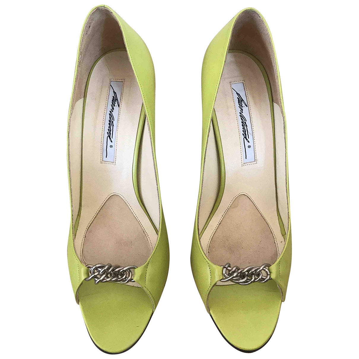 Brian Atwood \N Green Leather Heels for Women 37.5 EU