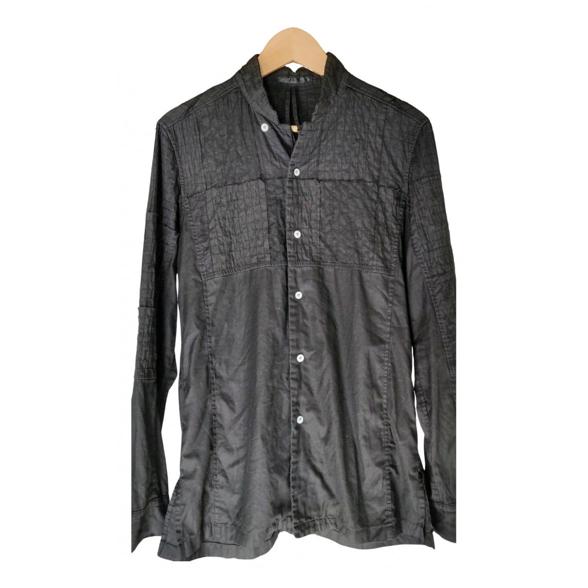 Viridi-anne - Chemises   pour homme en coton - noir