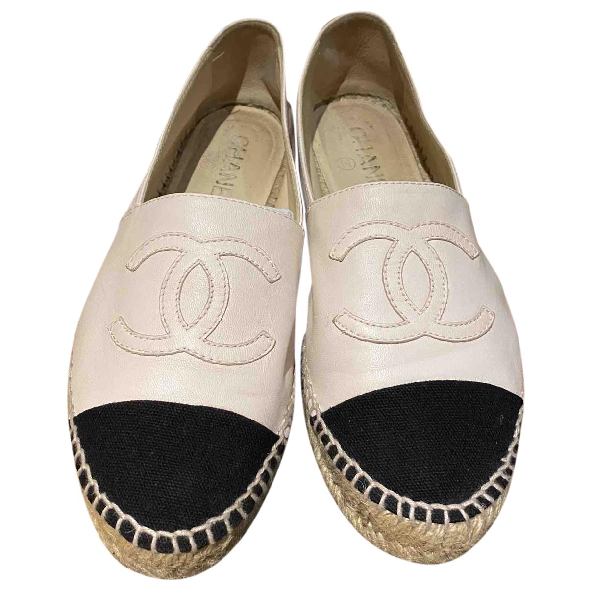 Chanel - Espadrilles   pour femme en cuir - rose