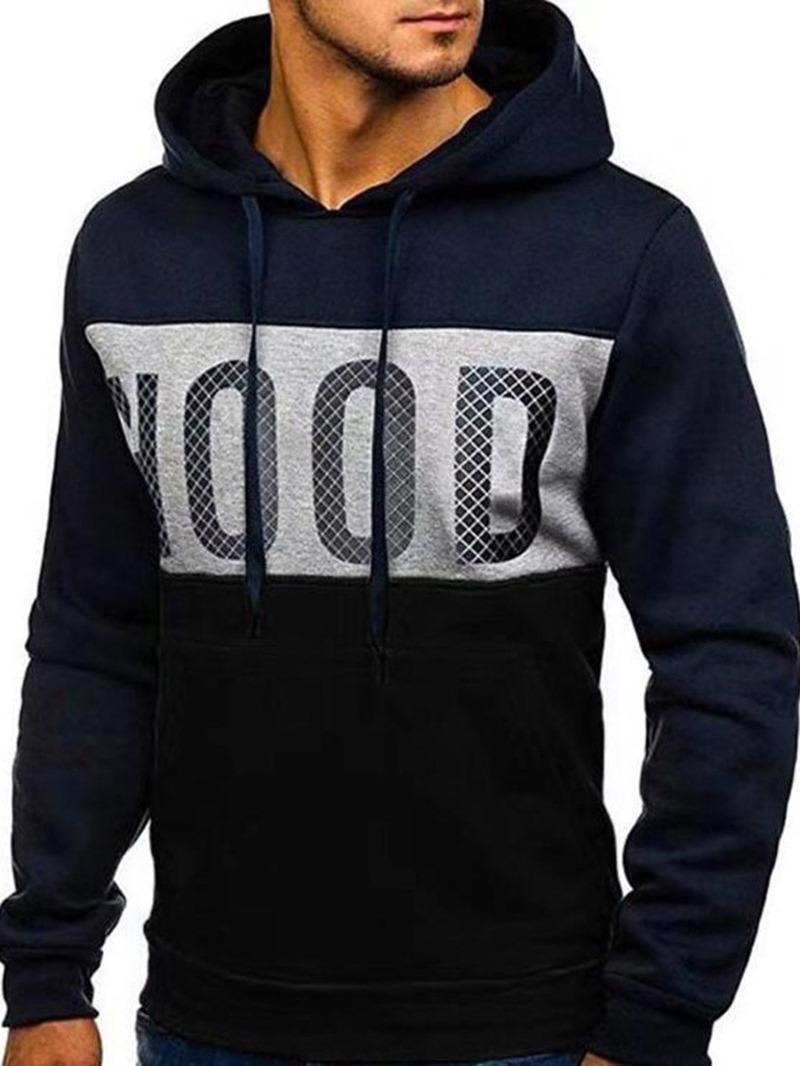 Ericdress Artificial Fleece Letter Loose Style Men's Hoodies