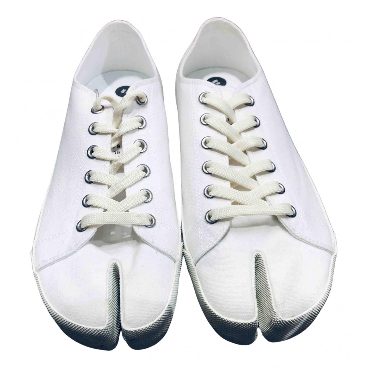 Maison Martin Margiela \N Sneakers in  Weiss Leinen