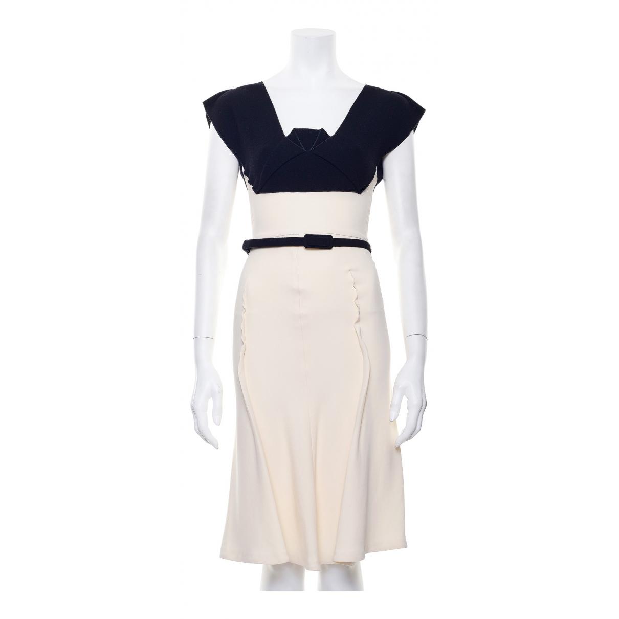 Roland Mouret \N Kleid in  Beige Viskose