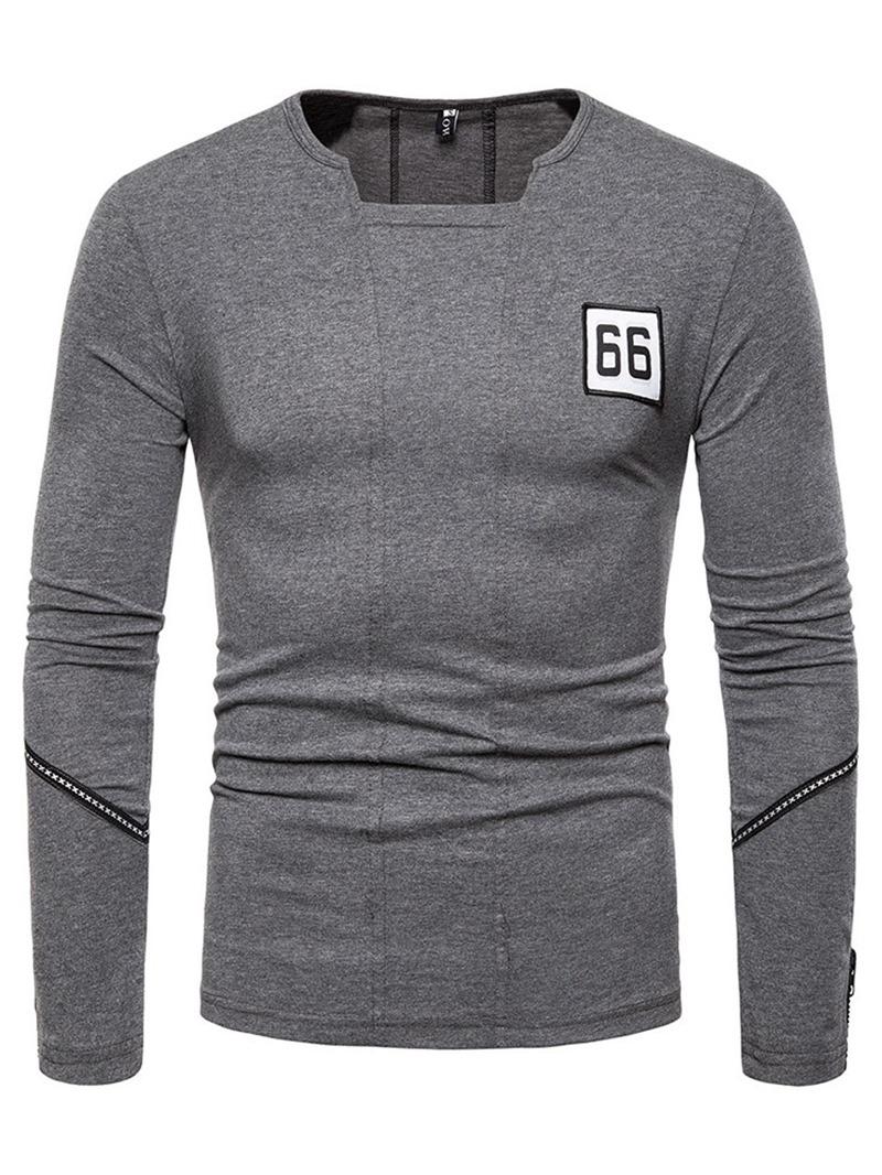 Ericdress Number Fashion Men's Slim T-shirt