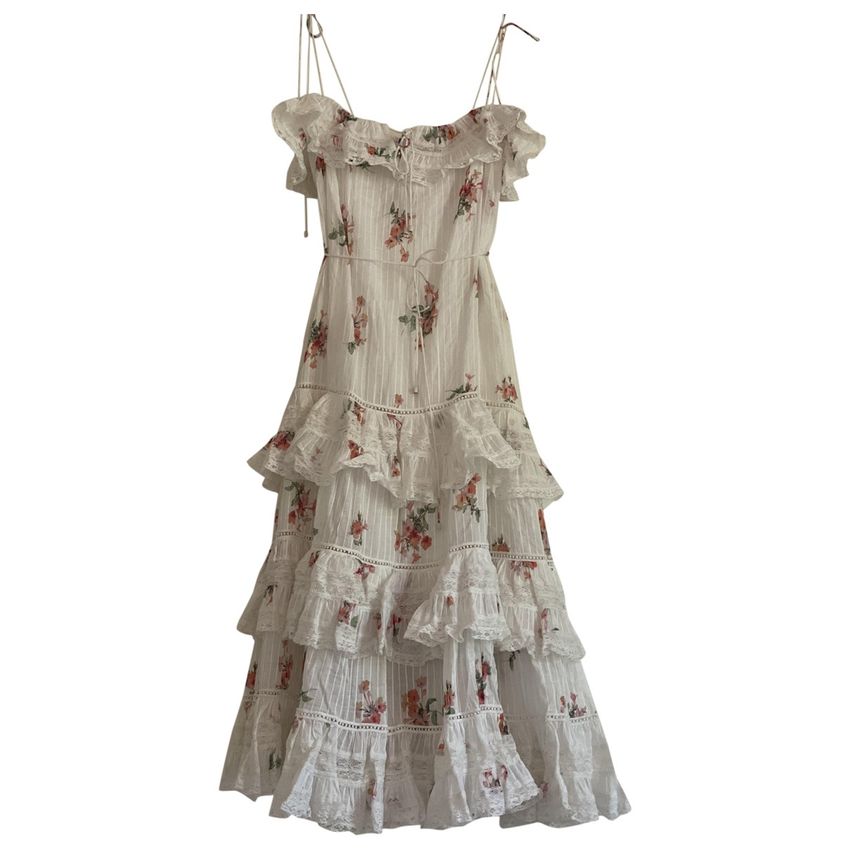 Zimmermann \N White Cotton dress for Women 2 US
