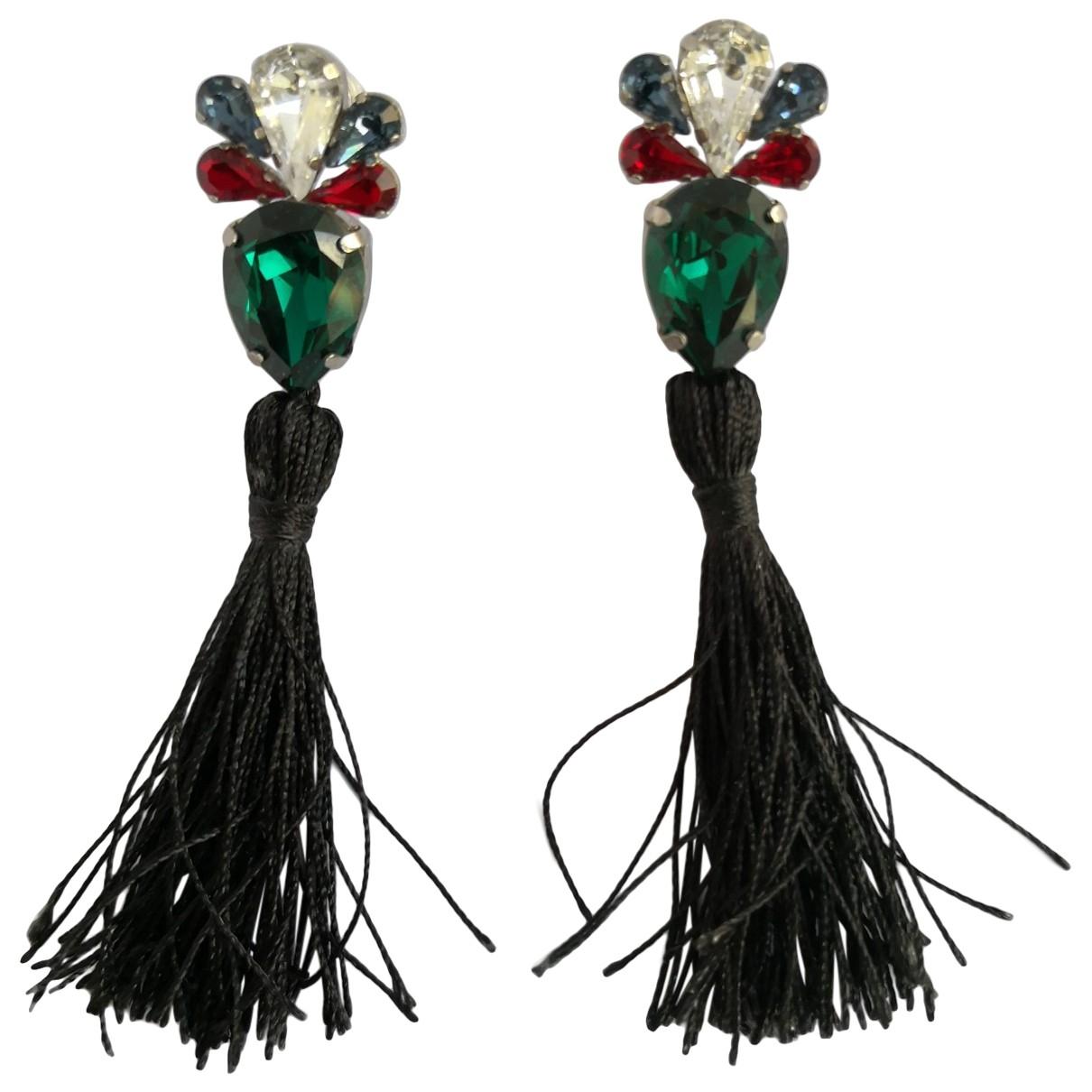- Boucles doreilles   pour femme en cristal - multicolore
