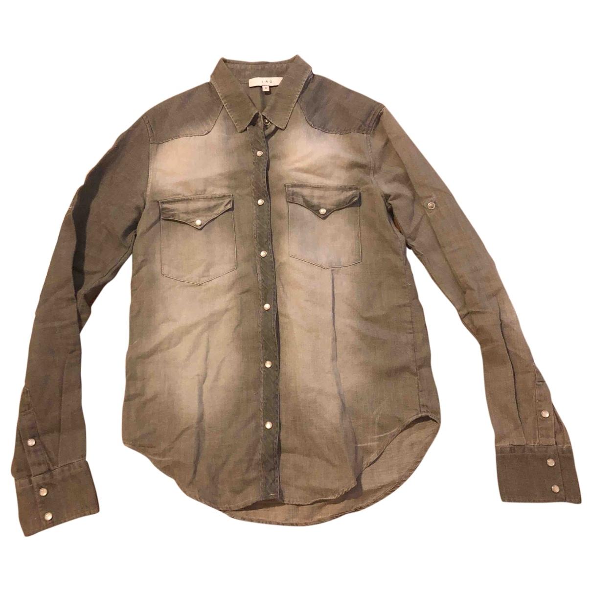 Iro - Top   pour femme en coton - gris