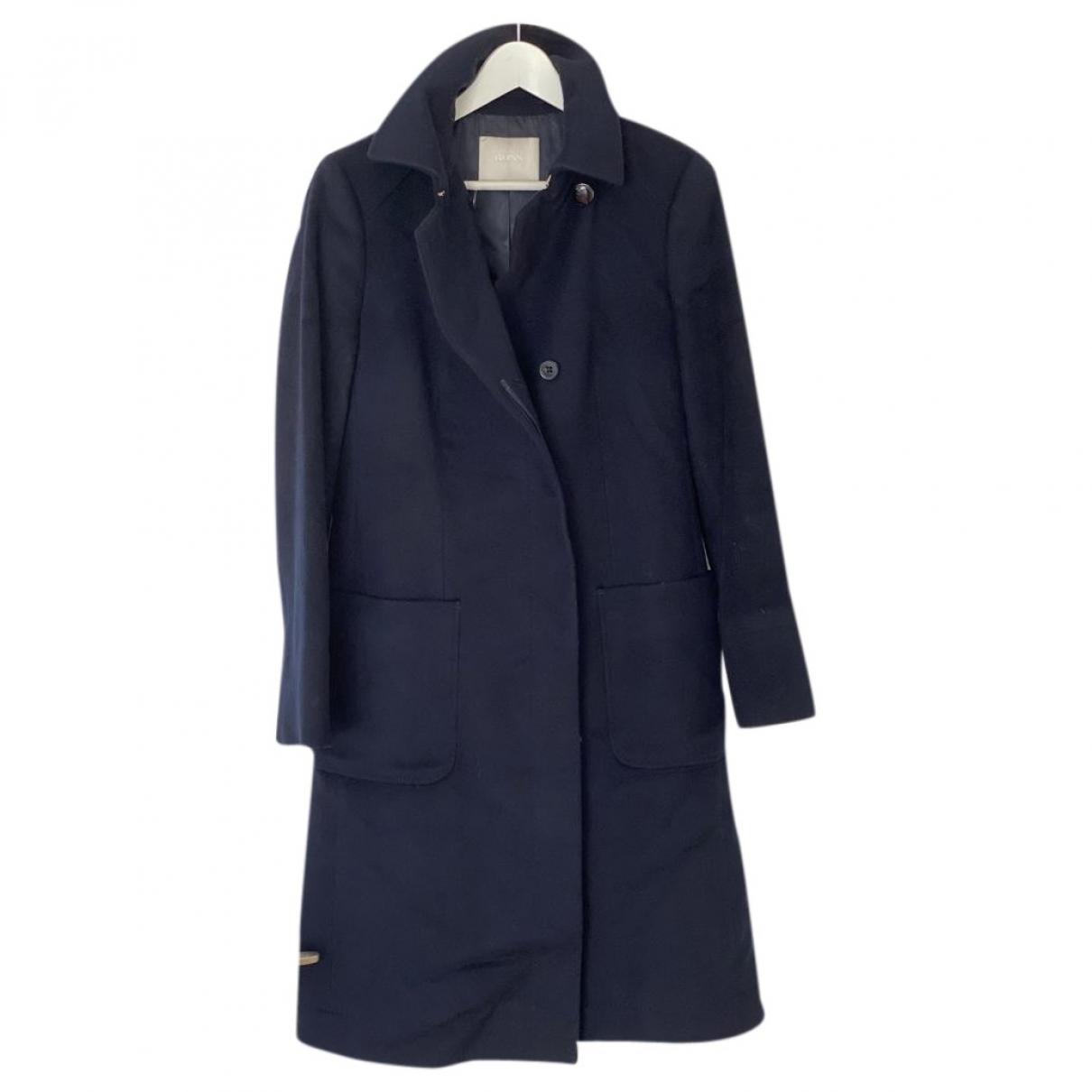 Hugo Boss \N Navy Wool coat for Women 42 FR
