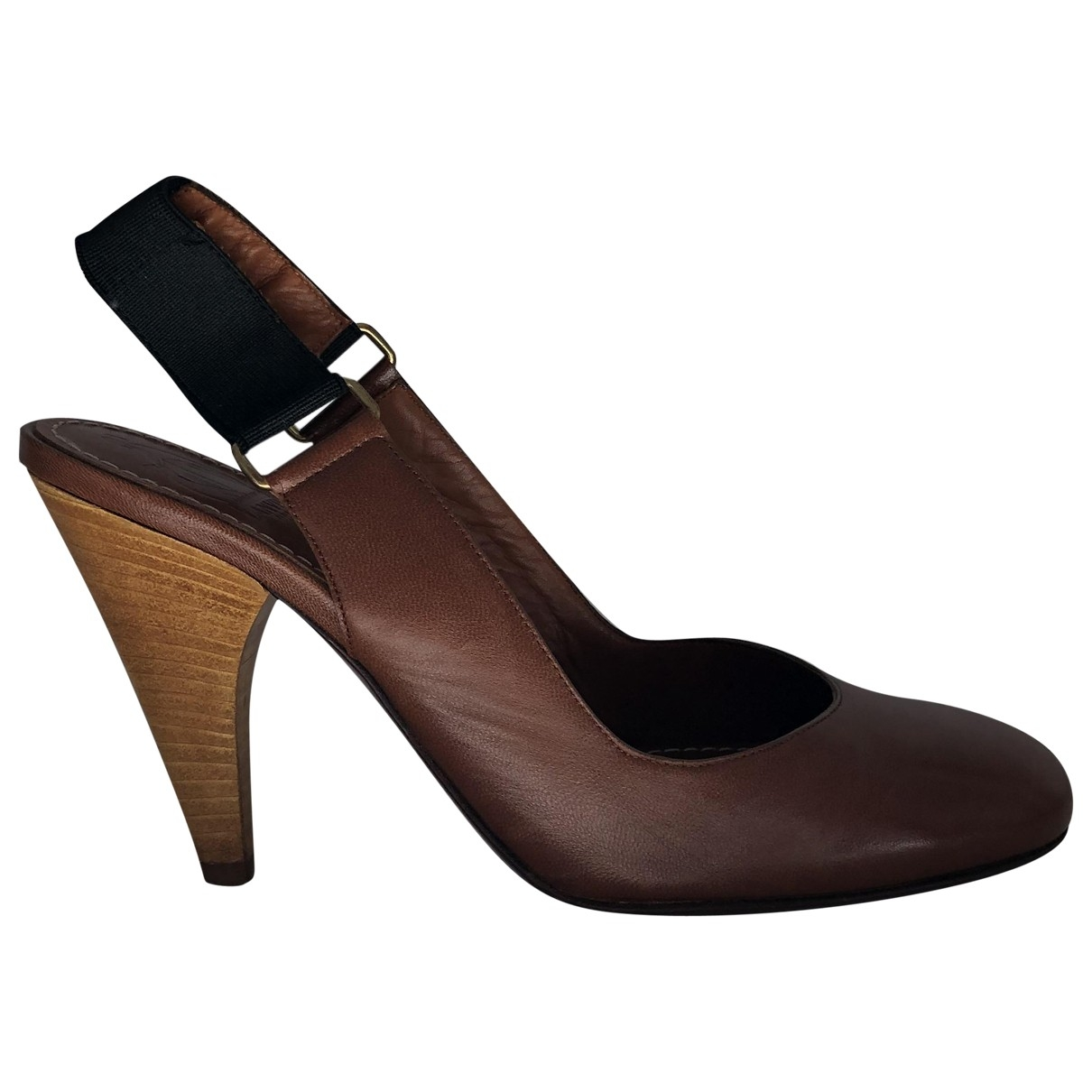 Lanvin \N Brown Leather Heels for Women 37 EU