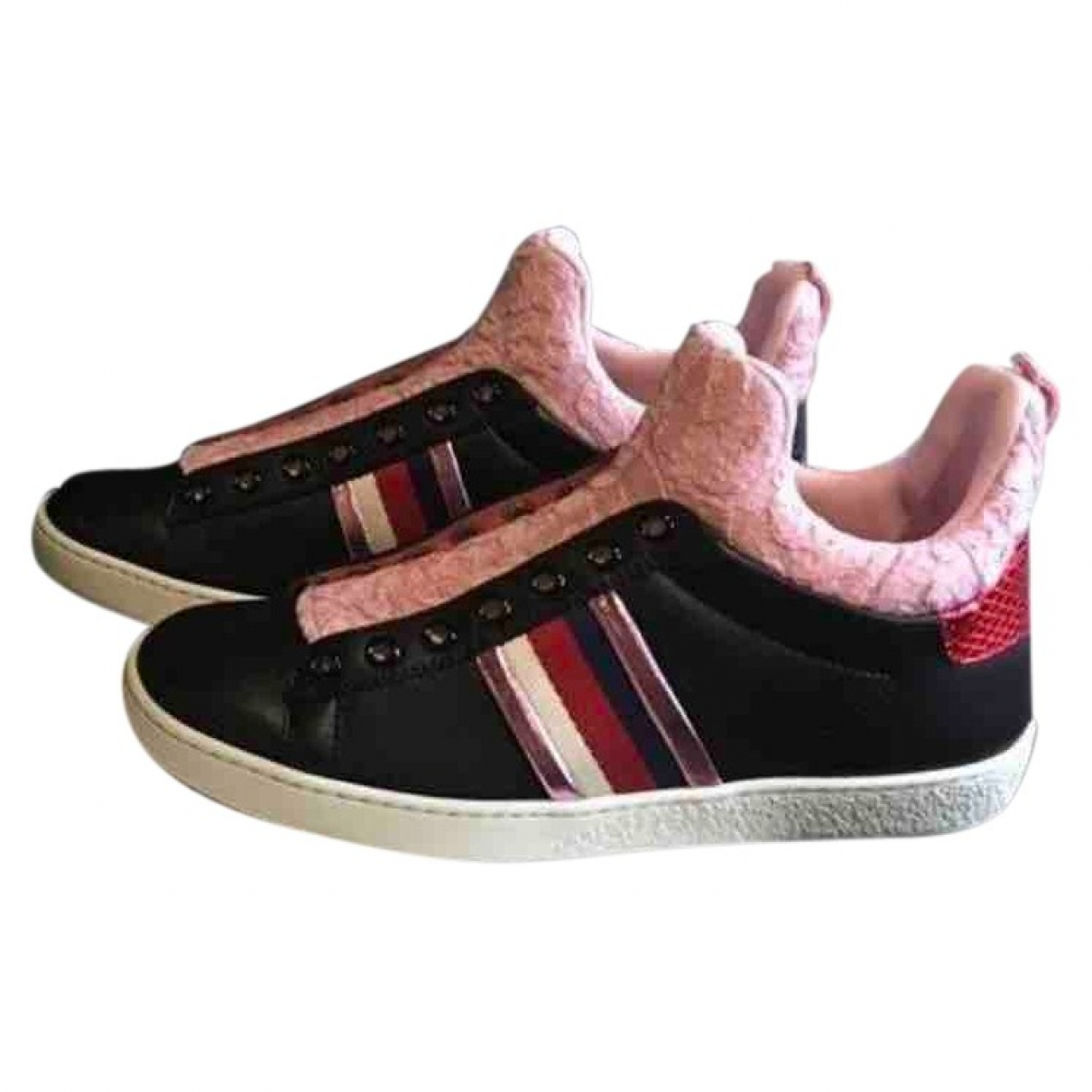 Gucci - Baskets Ace pour femme en cuir - noir