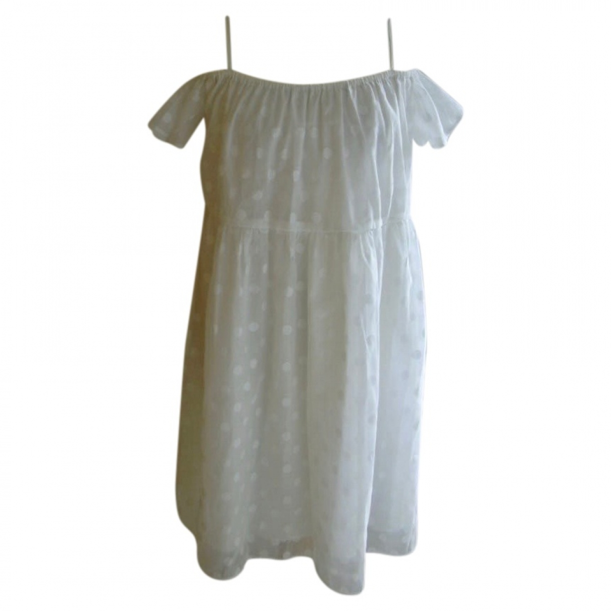 Non Signé / Unsigned Oversize White dress for Women S International