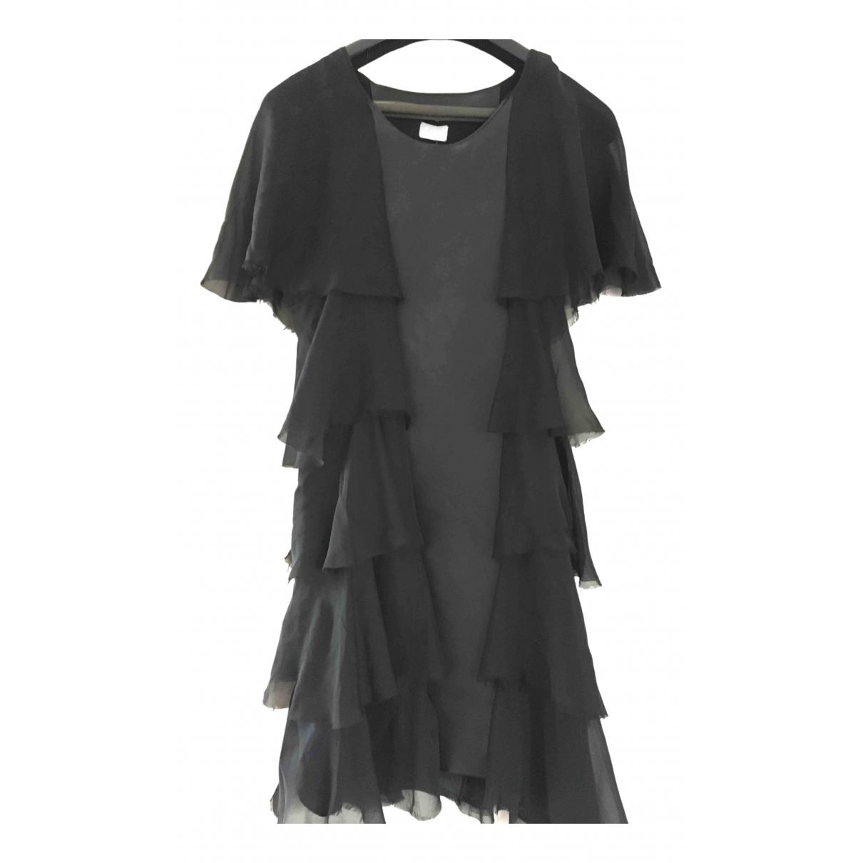 Lala Berlin \N Kleid in  Schwarz Leder