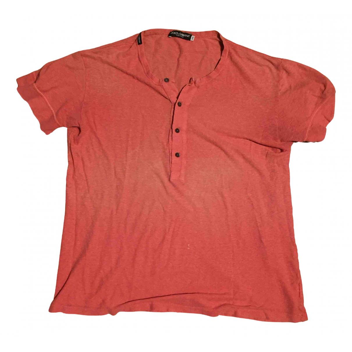 Dolce & Gabbana - Tee shirts   pour homme en coton - orange