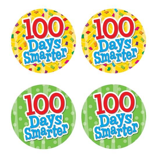 Teacher Created Resources 100 Days Smarter Wear em Badges, 6 Packs Of 32 | Michaels®