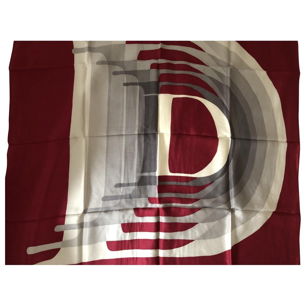 Dior \N Tuecher in  Bordeauxrot Seide