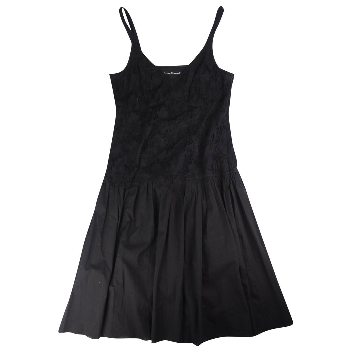 Luisa Cerano \N Kleid in  Schwarz Baumwolle