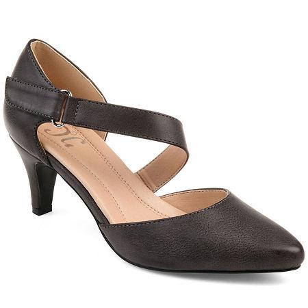 Journee Collection Womens Tillis Heeled Sandals, 6 1/2 Medium, Beige