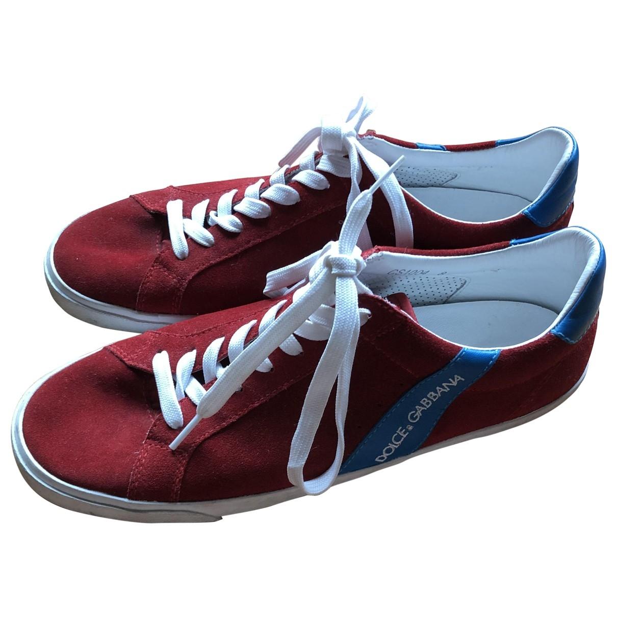 Dolce & Gabbana \N Sneakers in  Rot Veloursleder