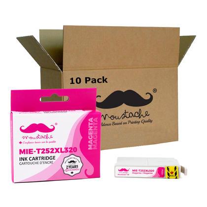 Compatible Epson T252XL320 - 252XL cartouche d'encre magenta haute capacite - Moustache - 10/paquet
