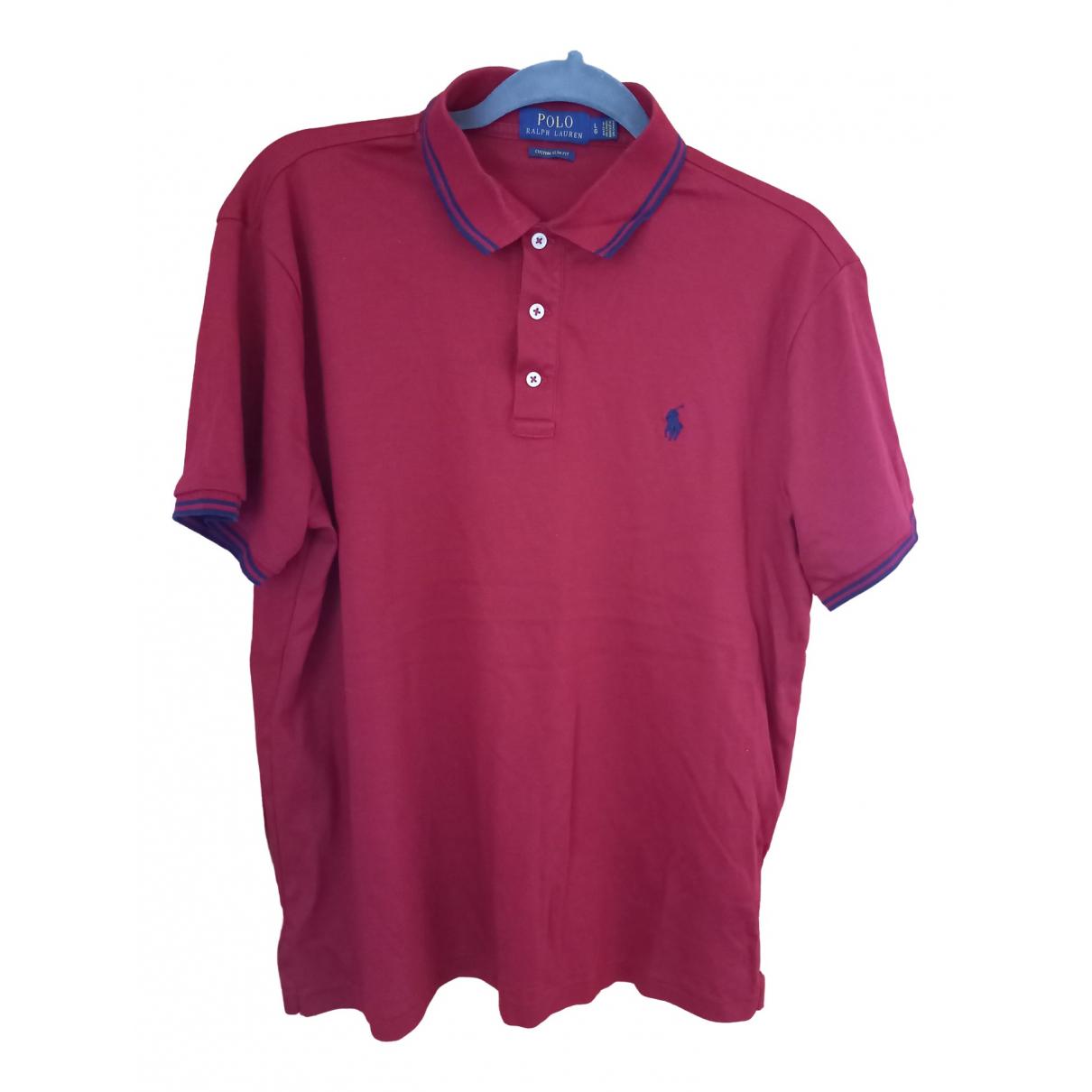 Polo Ralph Lauren - Polos Polo ajuste manches courtes pour homme en coton - bordeaux