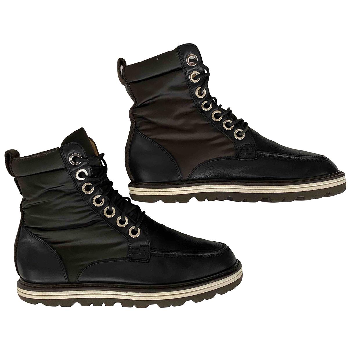 Dolce & Gabbana - Bottes.Boots   pour homme en cuir - marron