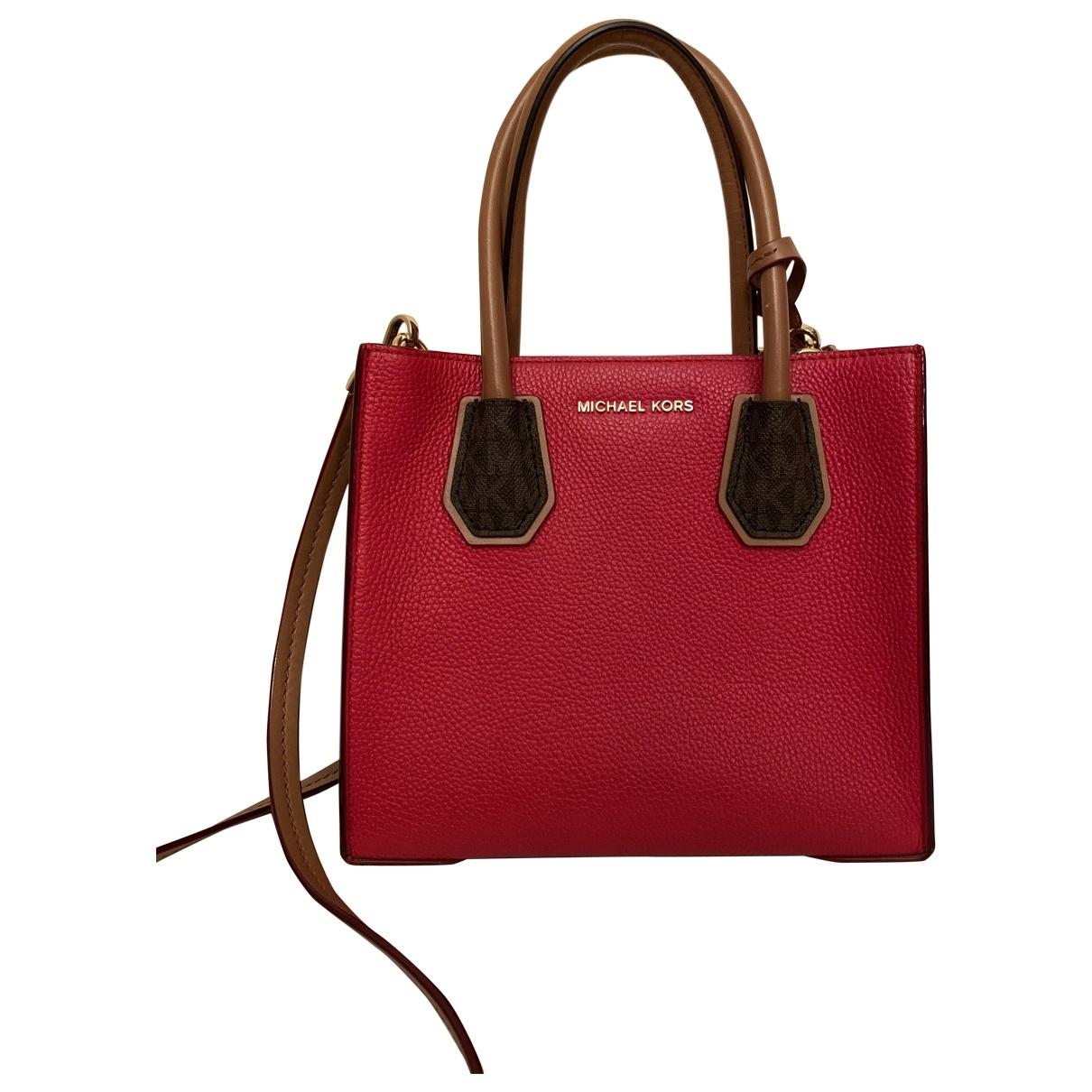 Michael Kors Mercer Red Leather handbag for Women \N