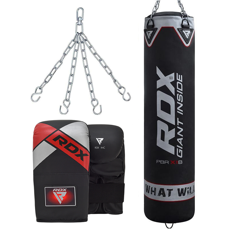 RDX X1 Long Punch Bag 5ft Filled and Bag Glove for Muay Thai, Kickboxing, MMA