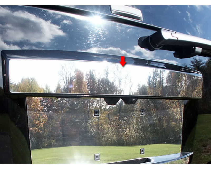 QAA Stainless Steel Rear License Trim 1Pc 2007-2014 GMC Yukon