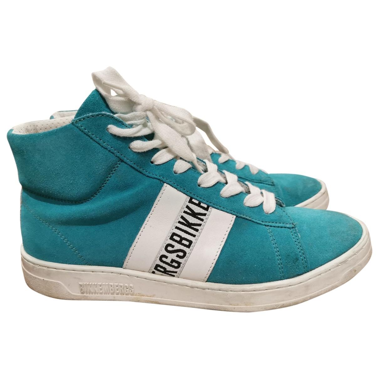Birkenstock \N Sneakers in  Tuerkis Veloursleder