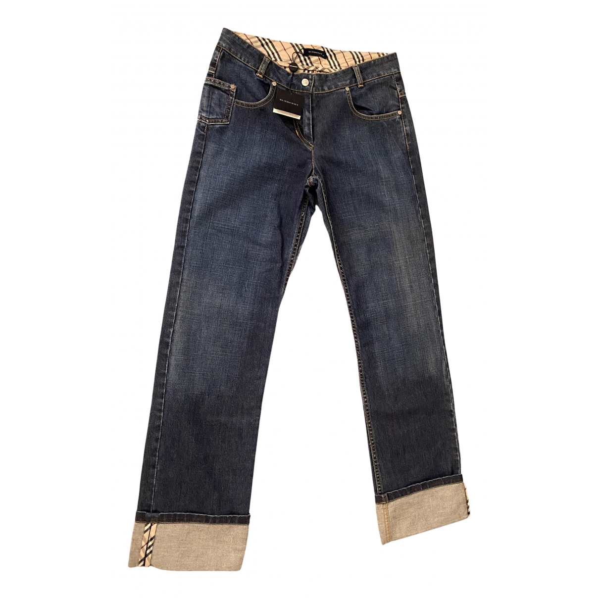 Burberry \N Blue Cotton Trousers for Kids 14 years - S FR