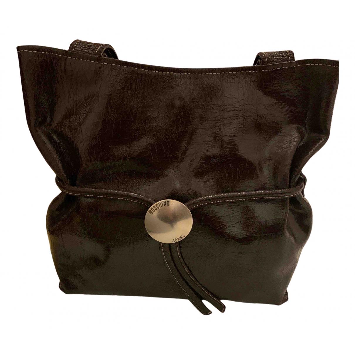 Moschino \N Handtasche in  Braun Leder