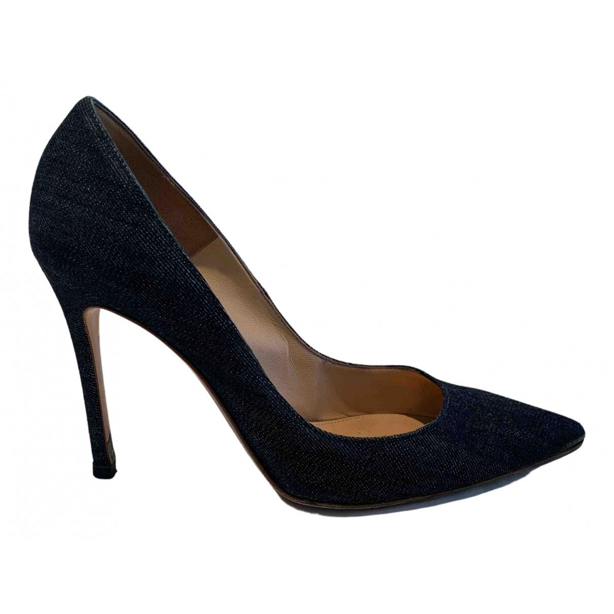 Gianvito Rossi Gianvito Blue Cloth Heels for Women 38.5 EU