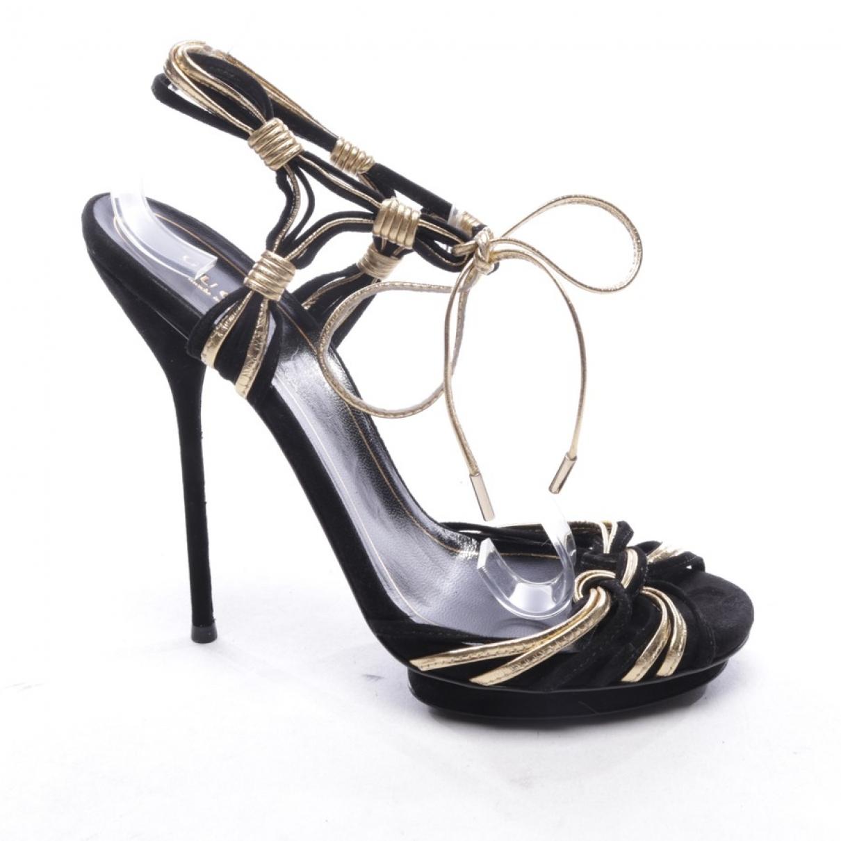 Gucci \N Black Suede Sandals for Women 36.5 EU