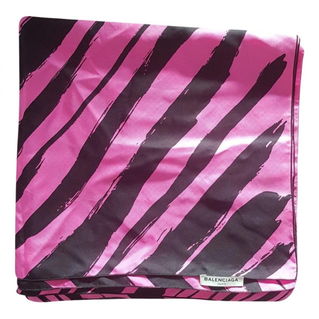 Balenciaga - Carre   pour femme en soie - rose