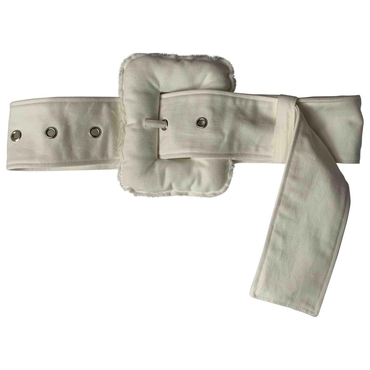Celine \N White Cotton belt for Women S International